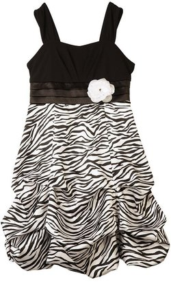 Amy Byer Iz zebra pick up-style dress - girls 7-16