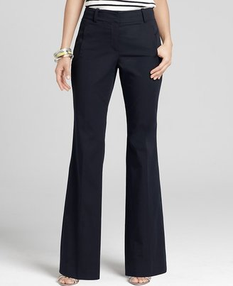 Ann Taylor Curvy Polished Cotton Trousers