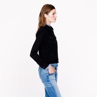 J.Crew Black denim jacket