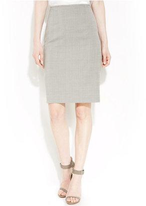 Calvin Klein Glen Plaid Pencil Skirt