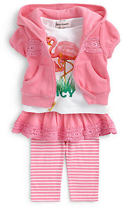 Juicy Couture Infant's Two-Piece Hoodie & Skirted Leggings Set