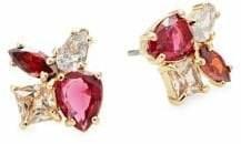 Kate Spade Flying Colors Goldtone Multi-Color Glass Cluster Stud Earrings