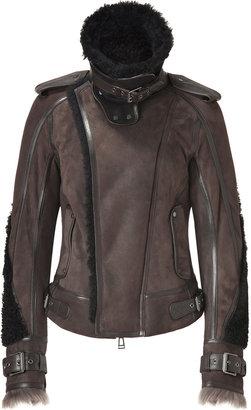 Belstaff Peat Shearling Lerryn Moto Jacket