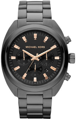 Michael Kors Men's Chronograph Gunmetal Tone Stainless Steel Bracelet Watch 48mm MK8276