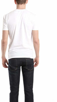 Simon Spurr Spurr by V Neck T-Shirt in White