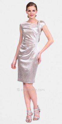 Kay Unger Asymmetric Neck Cocktail Dresses