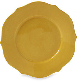 "Bed Bath & Beyond Misto Baroque Yellow 8 1/2"" Scalloped Salad Plate"