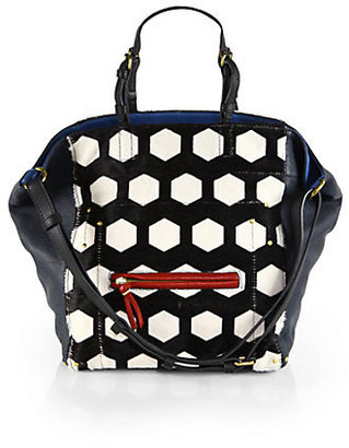 Jerome Dreyfuss Jacques Small Mixed-Media Hobo