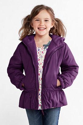 Lands' End Girls' Reversible Fleece Jacket