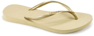 Havaianas Slim - Gold Rubber Thong