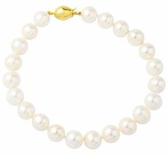 A B Davis 9ct Freshwater Cultured Pearl Bracelet, White