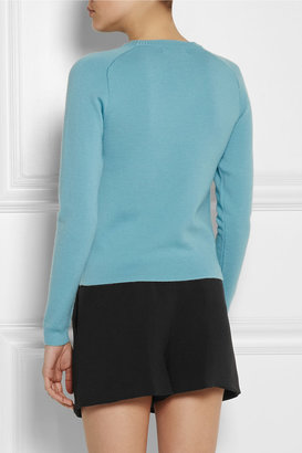 J.W.Anderson Twist-front merino wool sweater