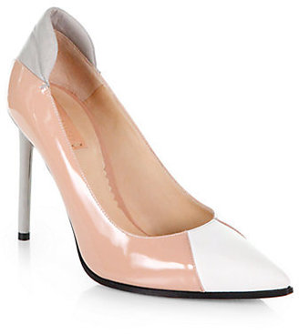 Reed Krakoff Academy Colorblock Matte & Patent Leather Pumps
