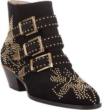 Chloé Suede Suzanna Studded Ankle Boots