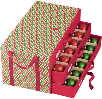 Container Store Holiday 3-Drawer Ornament Chest Chevron