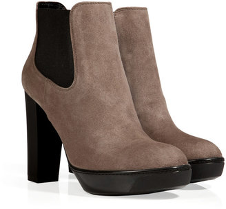 Hogan Nubuck Ankle Boots in Palude