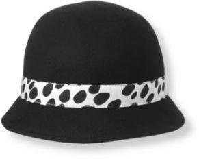 Janie and Jack Dalmatian Dot Wool Cloche Hat