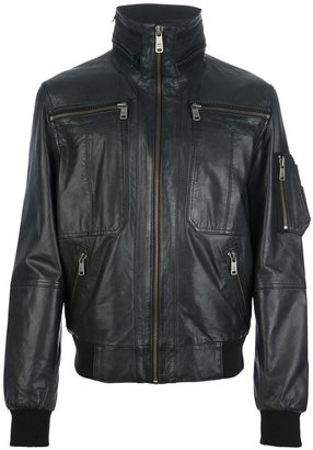 McQ by Alexander McQueen stand-up zipped collar jacket