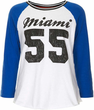 Topshop Tall miami colourblock raglan top