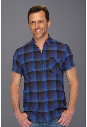 Calvin Klein Jeans Dusky Plaid S/S Woven (Victory Blue) - Apparel