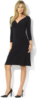 Lauren Ralph Lauren Long-Sleeve Faux-Wrap Sheath Dress $109 thestylecure.com