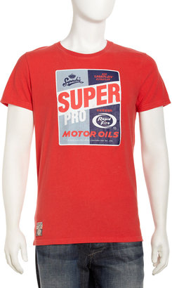 Superdry Super Oil Tee, Soda Pop Red