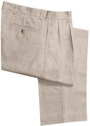 Barry Bricken Enzyme Stonewash Pants - Cotton Twill, Pleated front (For Men)