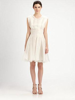 Cacharel Collared Silk Dress