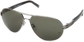 Montblanc Men's MB401S Aviator Metal Sunglasses