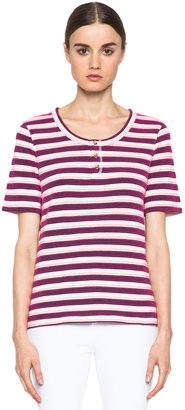 A.P.C. Jersey Jacquard Tunisien 70 Top in Marines