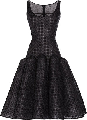 Zac Posen Embroidered Organza Dress