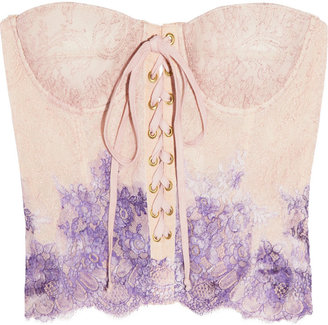 Rosamosario Pitture D'Arte hand-painted lace corset