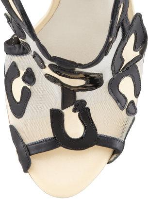Webster Sophia Blake Leopard Mesh Tie Sandal