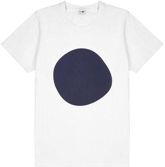 NN07 Mauro White Printed Cotton T-shirt