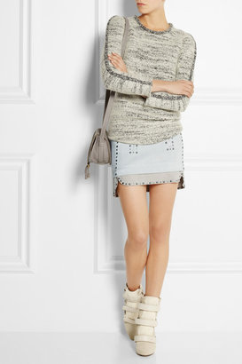 Isabel Marant Iolana studded suede mini skirt