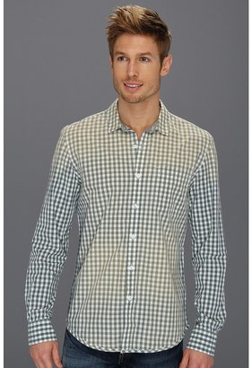 Calvin Klein Jeans Jam Gingham L/S Woven (Silver Pine) - Apparel