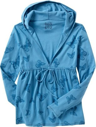 Old Navy Women: Women's Babydoll Hoodies - Graffiti Green