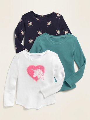 Old Navy Thermal Scoop-Neck Tee 3-Pack for Toddler Girls