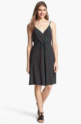 Calvin Klein Stripe Knit Fit & Flare Dress