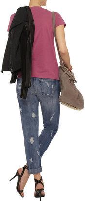 Current/Elliott The Fling distressed mid-rise skinny jeans