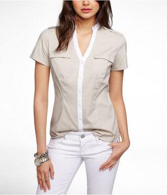 Express Short Sleeve Two Pocket Essential Shirt