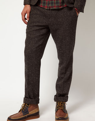 Asos Slim Fit Suit Pants in Fleck Herringbone