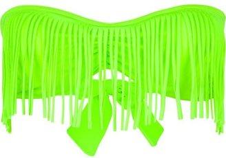 GUESS Fringe Bandeau Bikini Top
