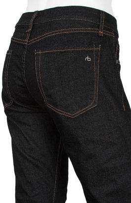 Rag and Bone RB15X Mid Rise Slim Straight Fit in Rinse Selvage
