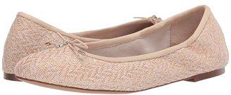 Sam Edelman Felicia (Sand/Summer Sand Cala Chevron Weave/Butter Nappa Leather) Women's Flat Shoes
