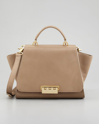 Z Spoke Zac Posen Eartha Full-Flap Satchel Bag, Elephant