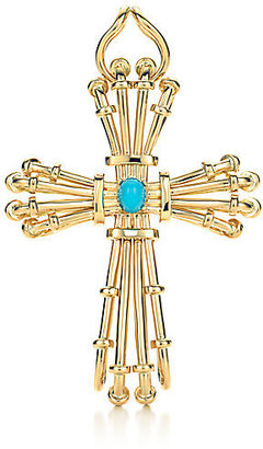 Tiffany & Co. Schlumberger®:Turquoise Wire Cross Pendant