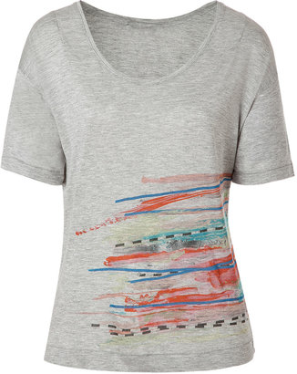 Twenty8Twelve Grey Melangé Printed T-Shirt