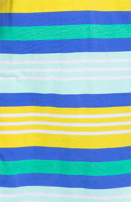 Nordstrom 'Dreamy' Short Sleeve Henley Sleep Shirt Blue Dazzle Stripe X-Large