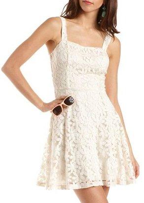 Charlotte Russe Daisy Crochet A-Line Dress
